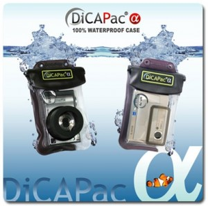 DiCAPac waterproof case for digital camera