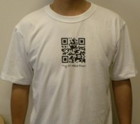 DiCAPac waterproof case QR-code T-shirts