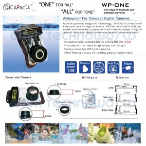 DiCAPac Waterproof case WP-ONE WP-310 WP-410